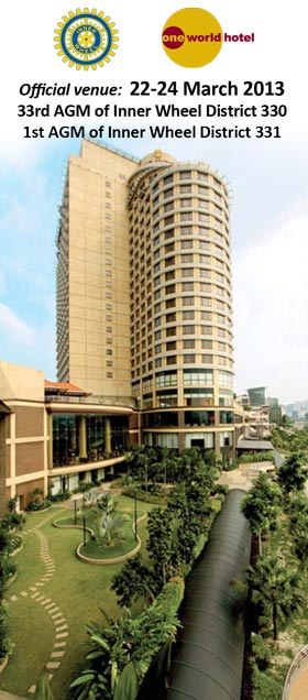 One World Hotel, official venue