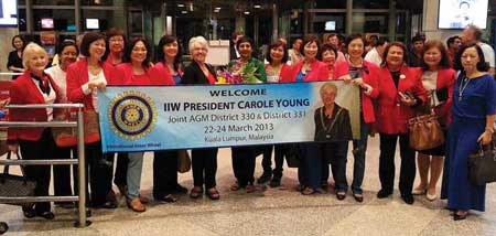 IIW President Carole Young arrives at Kuala Lumpur International Airport