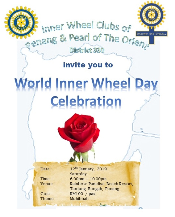 12 Jan 2019. IWC Penang and Pearl of the Orient, Penang: World Inner Wheel Day 2019 Celebration