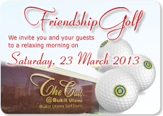 Friendship Golf Entry Form. 23 Mar 2013. The Club@Bukit Utama